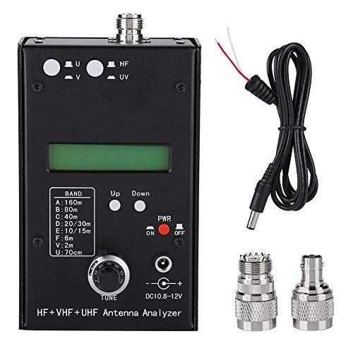 Lazmin Analizador de Antena, HF + VHF + UHF Analizador de Antena SWR Medidor de Antena Tester Analizador de impedancia de RF