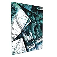 アブストラクト28エメラルドカデンツァスプライシング 楽器 楽譜 絵画の壁掛け 絵画 パネルの壁の絵ポスターアート パネルのアート フレーム 室内装飾アートボードの部屋装飾木製フレームセットの装飾画のフレームアートの壁掛けアート現代ファッション30*40cm