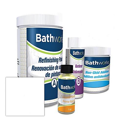 Bathworks Standard 22 oz. Tub & Tile Refinishing Kits W/Non-Slip Protection- White