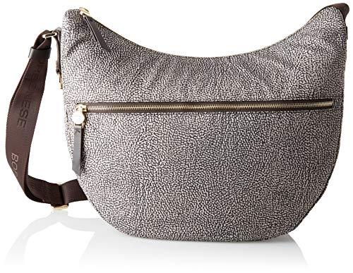 Borbonese Luna Bag - Borsa a Tracolla Donna, - Marrone