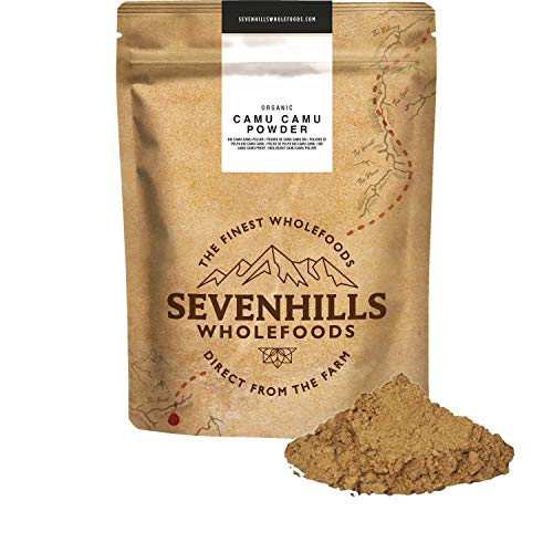 Sevenhills Wholefoods Organic Camu Camu Fruit Powder 250g, Natural Vitamin C