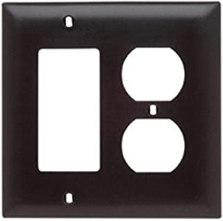 Legrand - Pass & Seymour TP826 Pass & Seymour Tp826-La ALM 1Dup/1Decora Wall Plate, 2-Gang, Brown