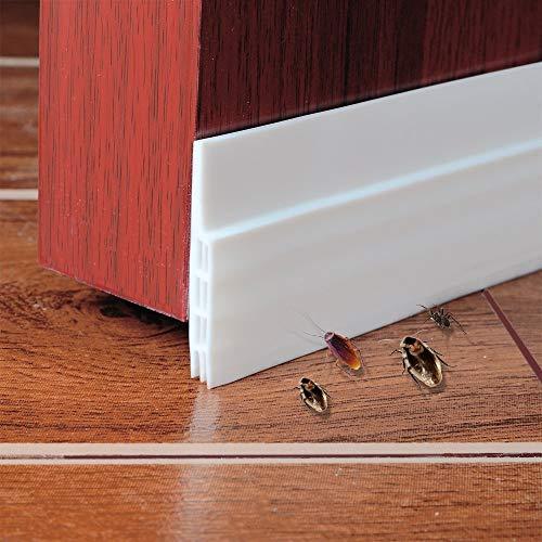 Türen Anti-Kollision Selbstklebendes Gummi Schaum Siegel Streifen Türdichtung Dichtungsstreifen Zugluftstopper Schalldämmung Weatherstrip wasserdichtes Siegel Silikon Türstopper 100 * 5cm, Weiß