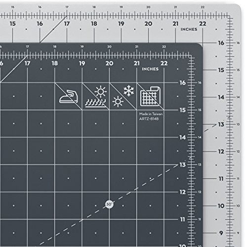 Arteza Rotary Cutting Mat, 18 x 24 Inches, Self-Healing, with Grid Lines and Non Slip Surface, for Fabric, Paper, and Vinyl, Durable and Flexible, Art Supplies for Crafts, Quilting, and Sewing
