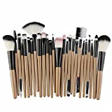 25 unids Pinceles de Maquillaje Set Beauty Foundation Power Blush Sombra de Ojos Cejas Lash Fan Corrector de Labios Maquillaje de la Cara Kit de Cepillos, negro