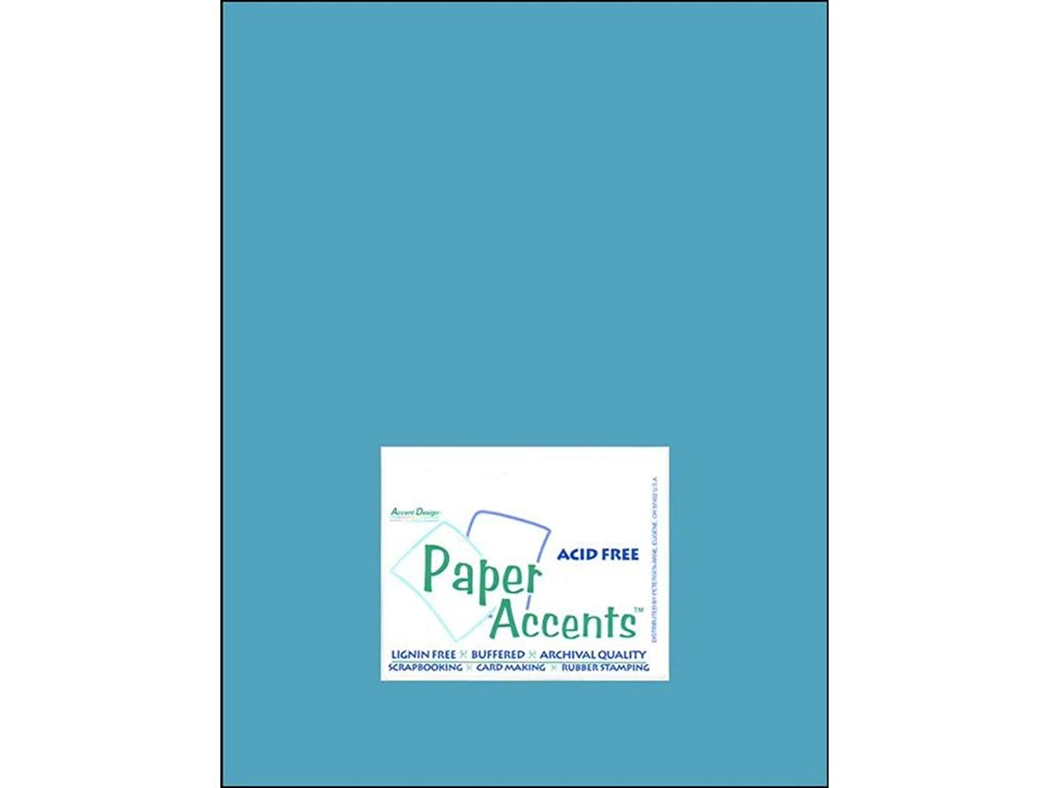 Accent Design Paper Accents Cdstk Smooth 8.5x11 80# Cyan