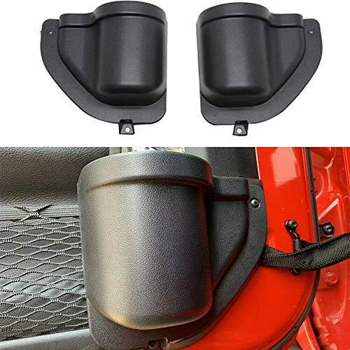 BEIJIAOFLY 2PCS ABS Front Door Storage Tray Organizer Car Front Door Pocket Storage Box for Jeep Wrangler JL JLU 2018 2019 2020 Up