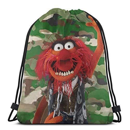 IUBBKI Mochila con cordón con estampado, vaso de precipitados The Muppets1, bolsa...
