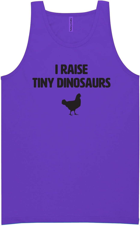 zerogravitee I Raise Tiny Dinosaurs Neon Tank Top