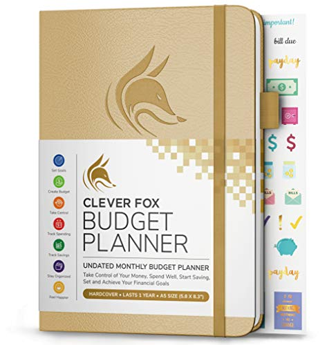Clever Fox Budget Planner - Expense Tracker Notebook. Monthly Budgeting Journal, Finance Planner & Accounts Book to Take Control of Your Money. Undated - Start Anytime (Oro, A5 (14.25 X 21 cm))
