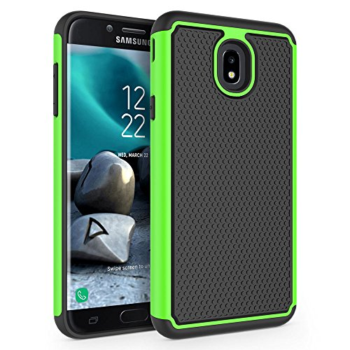 SYONER Case for Samsung Galaxy J7 2018 / J7 V 2nd Gen / J7V 2018 / J7 Refine / J7 Star / J7 Aero / J7 Top / J7 Crown / J7 Aura / J7 Eon, [Shockproof] Protective Phone Case Cover [Green]