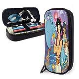 Disney Aladdin Moments - Bolsa de maquillaje portátil con cordón perezoso, bolsa de cosméticos de viaje, organizador de artículos de tocador impermeable, grande para mujeres y niñas