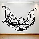 Chica calcomanía de pared hoja abstracta arte corporal vinilo ventana pegatina spa salón centro de masajes dormitorio decoración interior mural