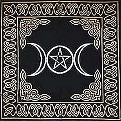 Triple Goddess Altar Tarot Cloth With Pentagram