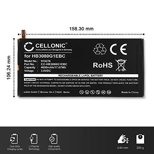 CELLONIC® Premium Akku kompatibel mit Huawei Mediapad M1 8.0 / T1 8.0/10 Link+ (4650mAh) HB3080G1EBC Ersatzakku Batterie Tabletakku - 4