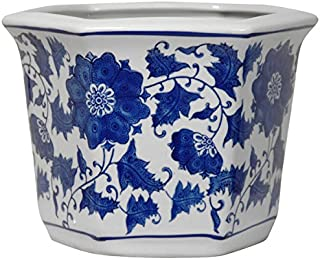 ORIENTAL Furniture Porcelain Blue and White Flower Pot Blue/White, China