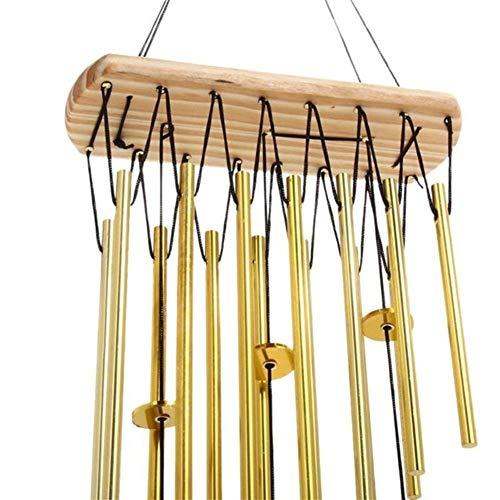 ZANGAO Portable Détente Bois Cuivre Tubes Wind Chimes Bells Bring to The Silvery Son Jardin Décoration d'intérieur Cadeau (Color : B)