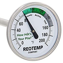 REOTEMP FG20P Backyard Compost Thermometer