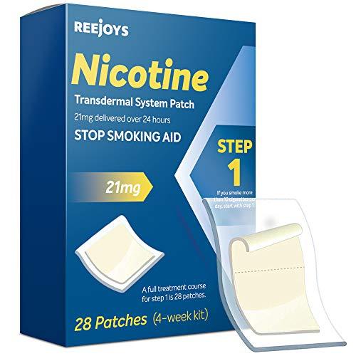 Nicotine Patches to Quit Smoking, Anti-Smoking Patch, Step 1 Stop Smoking Aid, 21mg