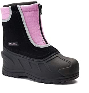Kids Snow Stompers Removable Liner Snow Boots (5, Pink)
