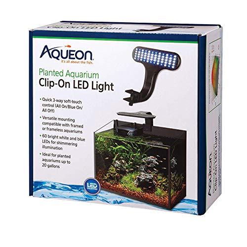"Aqueon 100533613 Planted Aquarium Clip-On LED Light,Black,8"" x 7"" x 4.75"""