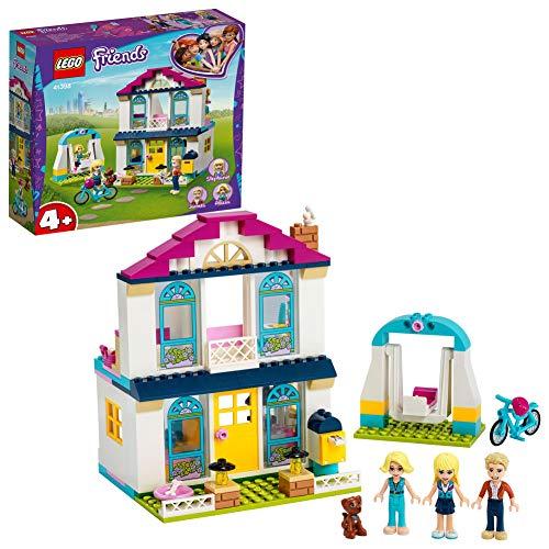 LEGO 41398 Friends 4+ Stephanies Familienhaus, Puppenhaus mit Mini Puppen, Spielzeug für Vorschulkinder