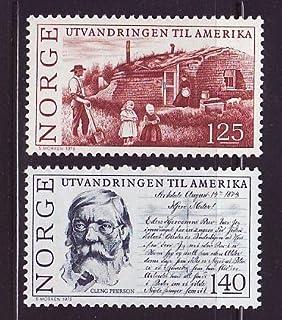 北欧 ノルウェー切手 1975年 アメリカ移住