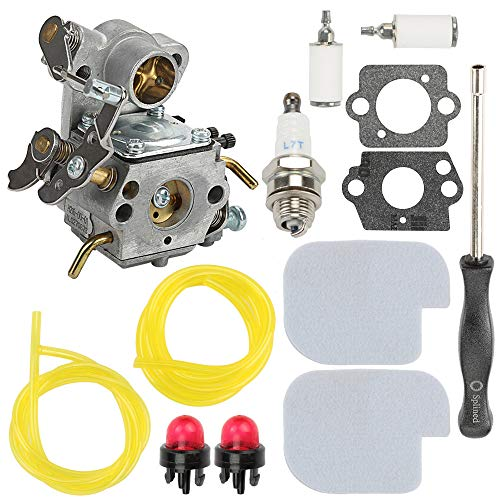 Carburetor for ZAMA C1M-W26 C1M-W26C Poulan P3314 P3416 P3816 P4018 PP3416 PP3516 PP3816 PP4018 PPB4218 S1970 Gas Chainsaw Weedeater Part# 545070601 545040701 with Air Filter Adjusting Tool