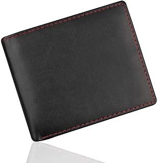 Rambling RFID Blocking PU Leather Bifold Wallet ID Credit Card Holderfor Men with 2 ID Windows