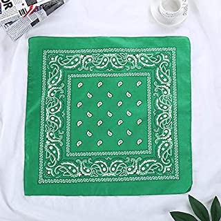 WENPINHUI Fashion Women Hair Accessories Linen Bandana Scarf Square Female Bandanas Headwear Rock Cool Girls Multi Headbands (Color : Green)