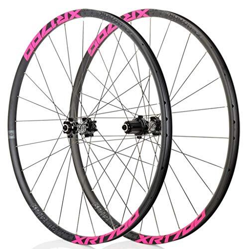 TYXTYX Wheel For Mountain Bik 26'/27.5 In MTB Bicycle Wheelset Double Wall Rim Ultra-Light 1620g Disc Brake 8-11S Cassette Hub Sealed Bearing QR