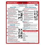 Infant and Child CPR and Choking First Aid Card - Emergency Numbers Refrigerator Magnet - Laminated Card with Magnets - 8.5 inches x 11 inches - Dry-Erase Marker Included (1)