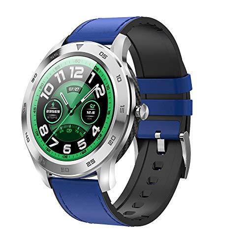 Smart Horloge Bluetooth Call ECG Heart Rate IP68 Waterdichte Sport Mannen Smartwatch Ios Voor Samsung Xiaomi Huawei Voor Iphone,Blue