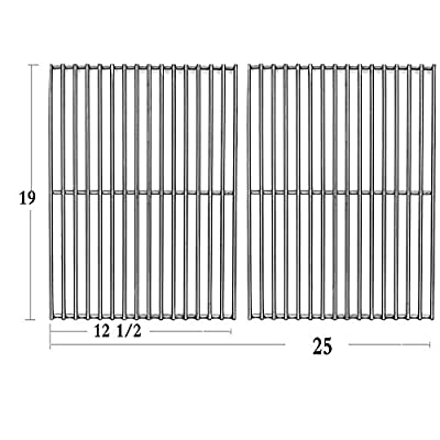 Votenli S6666B (2-Pack) Stainless Steel Cooking Grid Grates for Bakers and Chefs ST1017-012939, ST1017-012939,Brinkmann 810-8401-S, 810-8532-F, 810-8534-S,Broil-Mate, Charmglow, Gas Grill