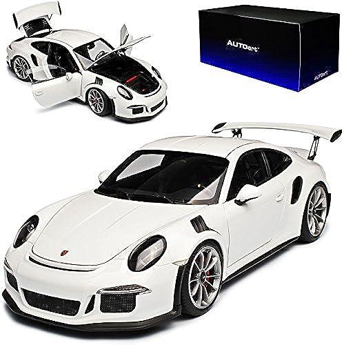 AUTOart Porsche 911 991 GT3 RS Weißs Ab 2013 78166 1 18 Modell Auto mit individiuellem Wunschkennzeichen