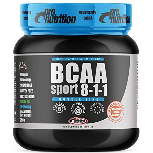 BCAA SPORT 8:1:1 [350 G] Gusto ARANCIA. LIMONE, AGRUMI- BCAA, vitamine B1 e B6