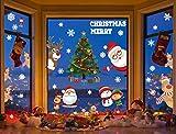 heekpek Pegatinas de Navidad Ventanas Pegatinas Decorativas Navidad PVC Reutilizables...