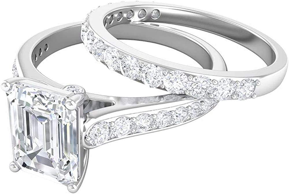 Unique Engagement Ring Bridal Rings Set Ranking TOP16 Low price CT 6X8 2.5 Solitair MM