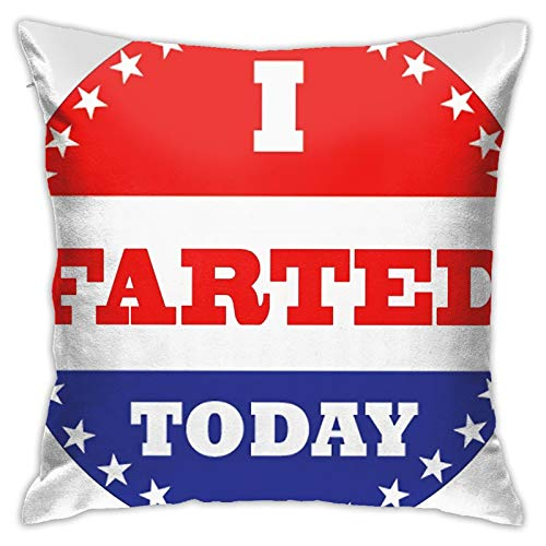antoipyns Voting Stickers - I Farted Today Throw Pillow Covers, Sofa Cushion Plush Design Decoration Home Bed Pillowcase 18x18 inch