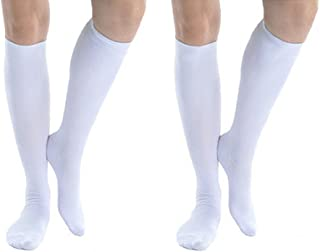 Men's Sexy Athletic Silk Tube Socks, Pack of 2