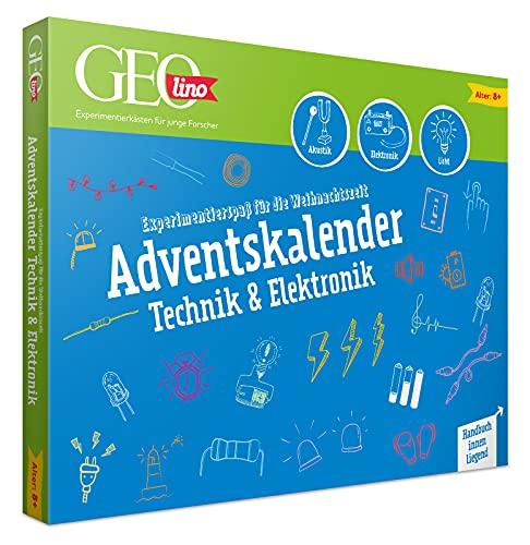 FRANZIS 67171 - GEOlino Adventskalender, 24 spannende Experimente aus Technik und Elektronik, mit vielen elektronischen Bauteilen für technikverliebte Kinder ab 8 Jahren