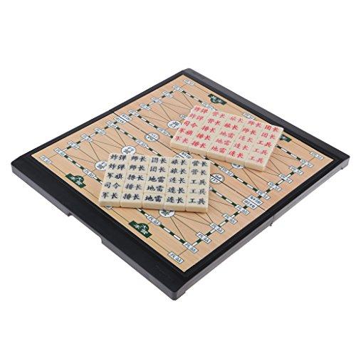 SM SunniMix Klassisches Chinesisches Schach / Kriegsspiel mit Klappbarem Brettspiel Tragbares Spiel für Heimreisen