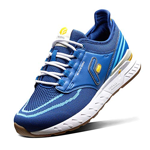 FitVille Wide Trail Running Shoes for Flat Feet Sports Sneakers for Men and Women Comfortable Support for Plantar Fasciitis - Stride Core Blue