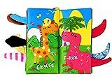 BelleStyle Libri di Stoffa per Neonati,Neonati Libro Interattivo, Cognition Libro Bebe, Libro Morbido con Coda di Animali, Giocattoli Educativi Precoce per Lo Sviluppo Intellettuale