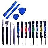 WEFH Juego de Destornilladores Torx 16 en 1, Juego de Herramientas de reparación de teléfonos móviles, Herramientas manuales multifunción, Color