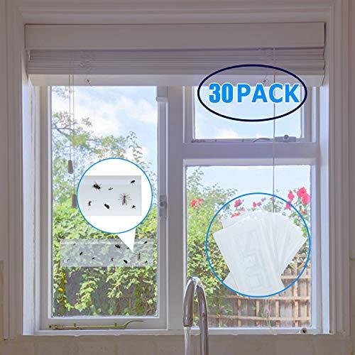 Fullsexy 30 Stück Fenster Fliegenfalle Fensteraufkleber zum Einfangen von Fliegen MEHRWEG