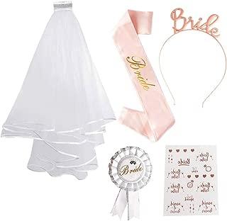 Fasce Addio al Nubilato Gadget Konsait Oro Rosa Sposa Fascia Regalo per Future Spose Decorazione per Addio al Nubilato Bride to be Satin Sash