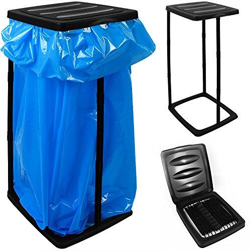 Deuba Müllsackständer für Müllsäcke bis max. 60 LITER 3-fach höhenverstellbar - Müllsackhalter Abfallbehälter Müllbeutelhalter