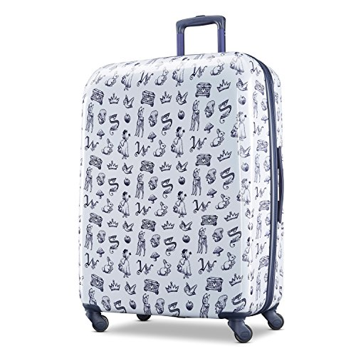 American Tourister Disney Hardside Luggage With Spinner Wheels, Snow White, Checked-Large 28-Inch
