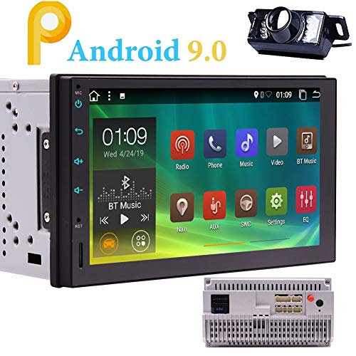 Android 9.0 Car Radio Bluetooth Double 2 Din Car Stereo with Backup Camera Standard in Dash 7 inch Capacitive Touch...